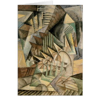Rush Hour, New York by Max Weber, Vintage Cubism Greeting Card