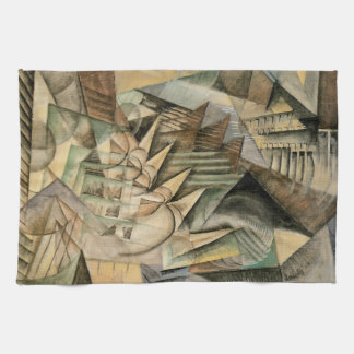 Rush Hour, New York by Max Weber, Vintage Cubism Hand Towel