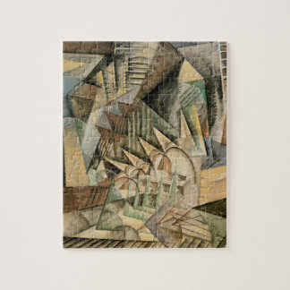 Rush Hour, New York by Max Weber, Vintage Cubism Jigsaw Puzzle