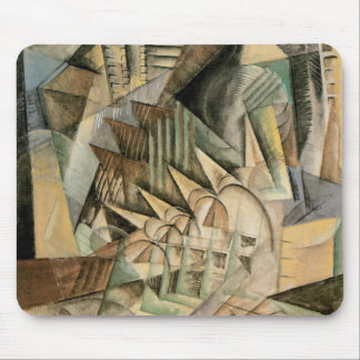 Rush Hour, New York by Max Weber, Vintage Cubism Mouse Pad