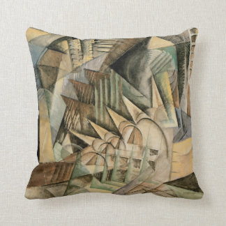 Rush Hour, New York by Max Weber, Vintage Cubism Throw Pillow