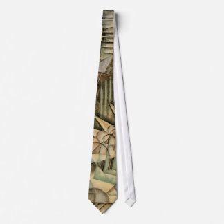 Rush Hour, New York by Max Weber, Vintage Cubism Tie