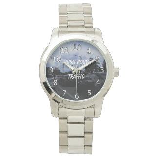 Rush hour traffic wristwatch