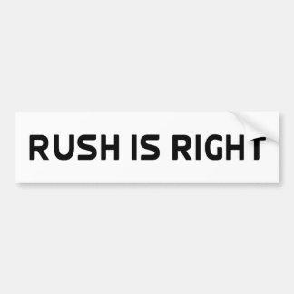 Rush Is Right Anti Obama Bumper Sticker