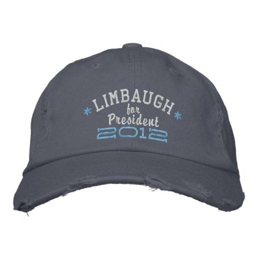 Rush Limbaugh For President 2012 Embroidered Baseball Cap