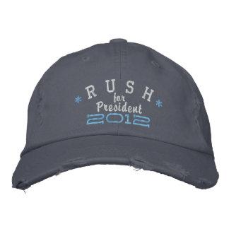 Rush Limbaugh para el presidente 2012 Gorros Bordados