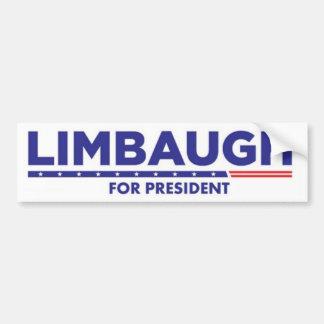 Rush Limbaugh para el presidente pegatina para el  Pegatina Para Auto