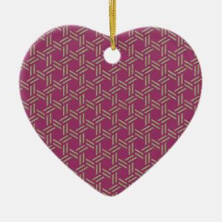 rush mat ceramic ornament