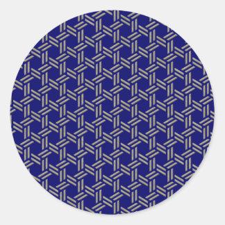 rush mat classic round sticker