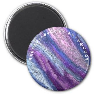 Rush of Purple 2 Inch Round Magnet