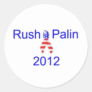 Rush Palin 2012 Classic Round Sticker