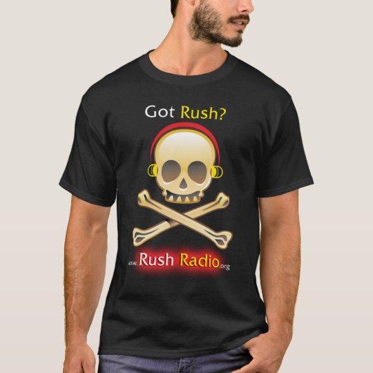 Rush Radio Skull Mens T T-Shirt