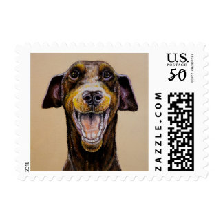 Rush the Smiling Dobie Stamps