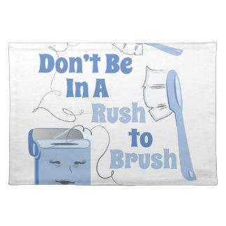 Rush To Brush Cloth Placemat