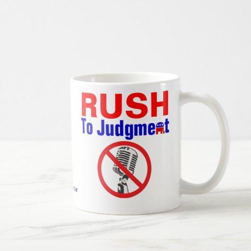RUSH to Judgment Classic White Coffee Mug
