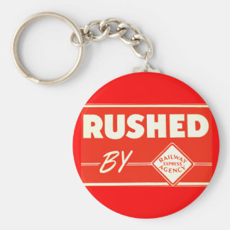 Rushed By Railway Express Agency Keychain