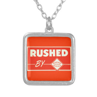 Rushed By Railway Express Agency Necklace