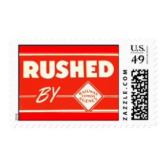 Rushed By Railway Express Agency Postage