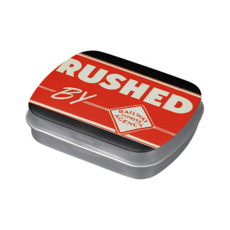Rushed By Railway Express Candy Tin