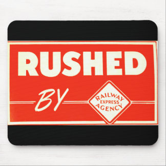 Rushed By Railway Express Mousepad