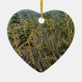 Rushes.jpg Double-Sided Heart Ceramic Christmas Ornament
