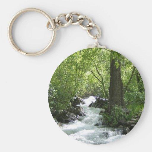 Rushing River Basic Round Button Keychain