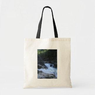 Rushing Water At Three Pools Tote Bags