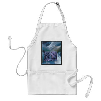 Rushing Water with Purple Stones Adult Apron