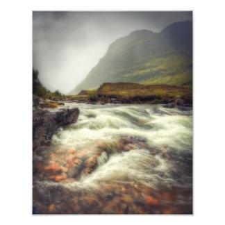 Rushing waters of River Coe Photo Print