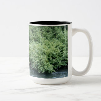 Rushing waters Two-Tone coffee mug