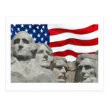 Rushmore / Flag Postcard