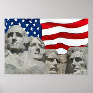 Rushmore / Flag Poster