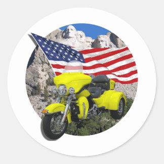 Rushmore Trike Pegatinas Redondas
