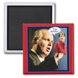 Rush's Palin Puppet Square Magnet