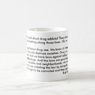 Rush's View On Drug Addicts Classic White Coffee Mug