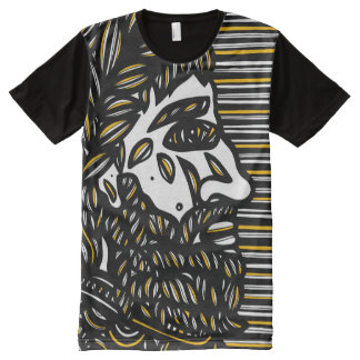 Rushworth Abstract 631 Art American Apparel Men's All-Over-Print T-Shirt