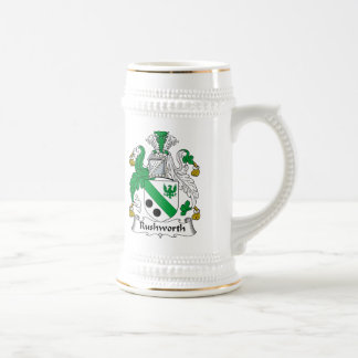 Rushworth Family Crest Beer Stein