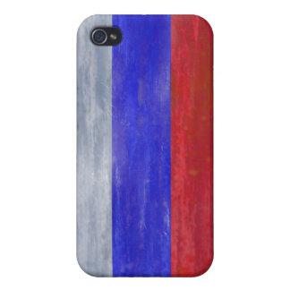 Rusia apenó la bandera rusa iPhone 4 fundas