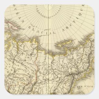 Rusia asiática y región polar septentrional pegatina cuadrada