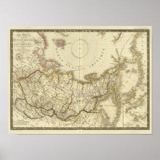 Rusia asiática y región polar septentrional póster