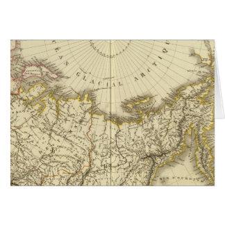 Rusia asiática y región polar septentrional tarjeta de felicitación
