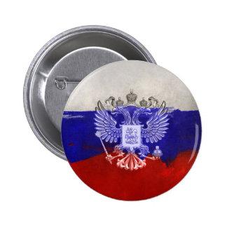 Rusia-Bandera #2 Pin Redondo De 2 Pulgadas