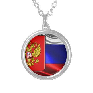 Rusia-Bandera #4 Collar Plateado