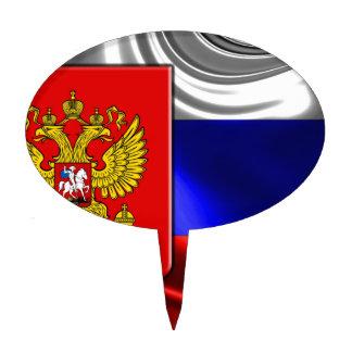 Rusia-Bandera #4 Palillos De Tarta