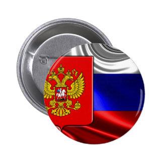 Rusia-Bandera #4 Pin Redondo De 2 Pulgadas