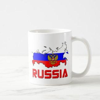 Rusia con el escudo tazas