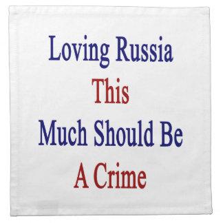 Rusia de amor esta mucho debe ser un crimen servilletas de papel