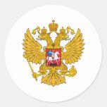 Rusia dos dirigió Eagle Pegatina Redonda