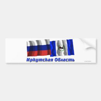 Rusia e Irkutsk Oblast Pegatina De Parachoque