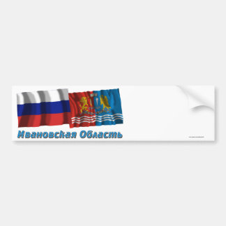 Rusia e Ivanovo Oblast Pegatina De Parachoque